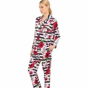 Kate Spade Floral Stripe PJ Sleep Lounge Set Sz M